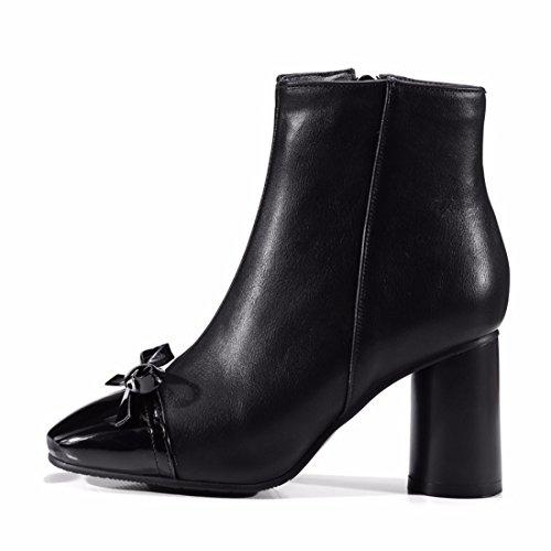 Invierno Otoño Shoes Botas e Zapatos Women's RFF Zapatos Terry Arco Black Cuadrado IxCwTfE