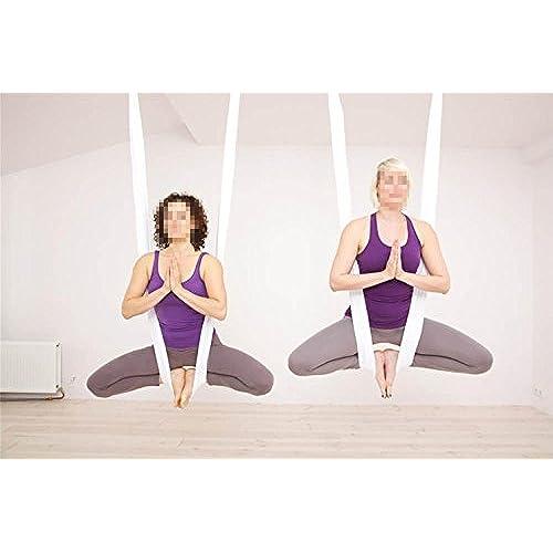 dasking premium aerial yoga hammock kit  white  aerial hammock  amazon    rh   amazon