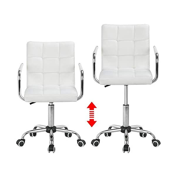 Yaheetech Chaise de Bureau Pivotante – Fauteuil pour Ordinateur à roulettes Siège Hauteur Réglable avec Dossier Cuir…