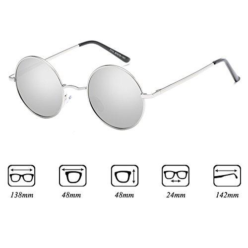 métal classique de lunettes C4 polarisé femmes rétro hommes soleil conduite Yying Lunettes rondes gqtZwf
