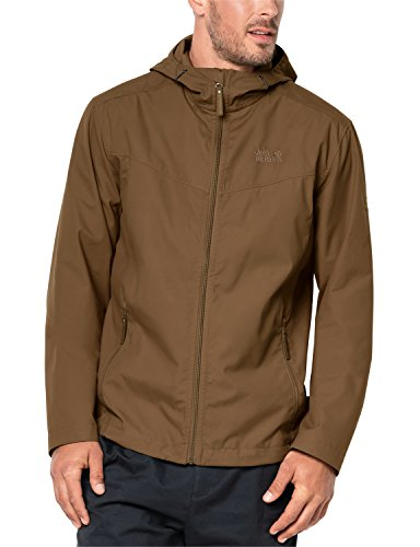 Jack Wolfskin Men's Amber Road Jacket, Medium, Deer Brown by Jack Wolfskin