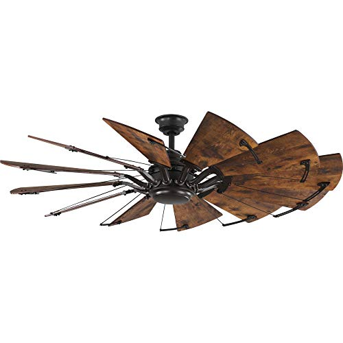 Progress Lighting P250000-129 Springer Twelve-Blade 60 Ceiling Fan, Architectural Bronze