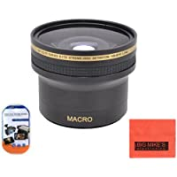 52mm 0.17X Super Wide Fisheye Lens For Nikon DF, D90, D3000, D3100, D3200, D5000, D5100, D5200, D5300, D7000, D7100, D300, D300s, D600, D610, D700, D800, D800e Digital SLR Cameras Which Has Any Of These Nikon Lenses (18-55MM, 55-200MM, 35MM f/1.8, 40MM f/2.8, 50MM f/1.8, 85mm f/3.5)