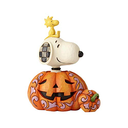 Enesco 6000981 Peanuts by Jim Shore Snoopy and Woodstock in Pumpkin Figurine 7.01