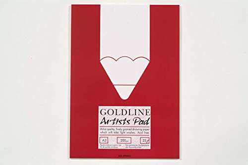 (Clairefontaine Goldline Popular Drawing Pad, 90gsm, A2, 50 Sheets, Paper, Off White)