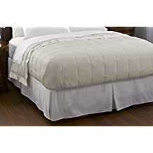 Pacific Coast Feather Company 67810 Down Blanket, Cotton Cover with Satin Border, Hypoallergenic, Full/Queen, Cream