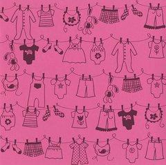 Bazzill Basics Glazed 12x12 Cardstock 15-Pack: Clothesline Girl Chablis (Cardstock Glazed Bazzill)