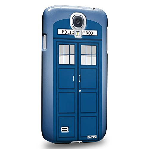 Pin-1 [Samsung Galaxy S4] 3D Printed Snap-on Hard Case & Warranty Card - Art Design Police Box Telephone Box 1706 (Samsung S4 Police Case)