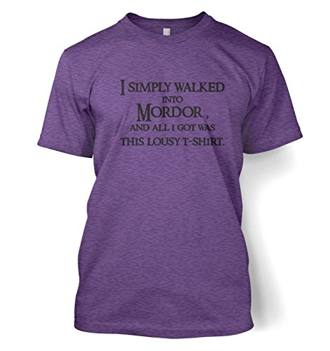 "Price comparison product image A T-Shirt From Mordor T-shirt - Films, TV And Movie Geeky Tshirt - Heather Purple X-Large (46 / 48"")"