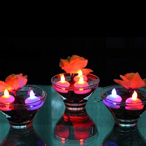 Lotus Flower Wishing Candle Light giallo OSALADI LED Floating Light Lotus Pond Light per piscina Pond