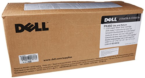 - Dell PK492 Black Toner Cartridge 2330d/dn, 2350d/dn Laser Printer