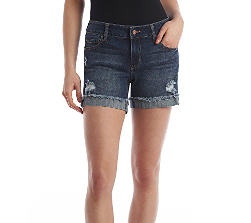 Celebrity Pink Jeans Women's 5″ Mid Rise Fray Cuff Denim Short