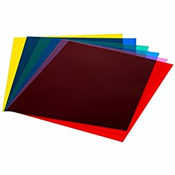 Lighting Gel Filter,Jeasun 6 Color Transparent Correction Film Plastic sheet (Red, Blue, Green, Cyan, Yellow, Magenta) 8 x 10 Inch