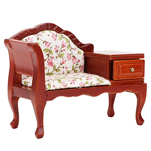 Doll House Miniature Vintage Sofa Furniture Toy,Fine Workmanship and Exquisite Appearance ,Made of Superior Materials, Safe and Durable