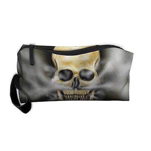 Jessent Coin Pouch Skull Smokes Hookah Pen Holder Clutch Wristlet Wallets Purse Portable Storage Case Cosmetic Bags Zipper