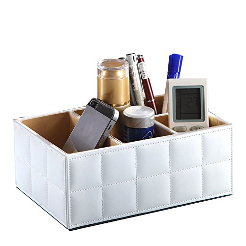 JUJU MALL-Leather Board Storage Box Desk Decor Stationery Makeup Cosmetic Organizer - Mall Detroit Oakland