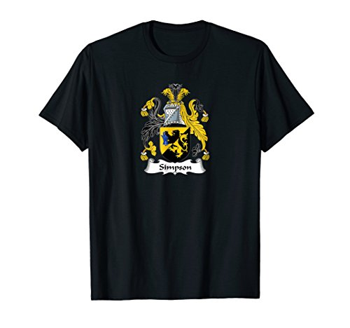- Simpson Coat of Arms - Family Crest Shirt