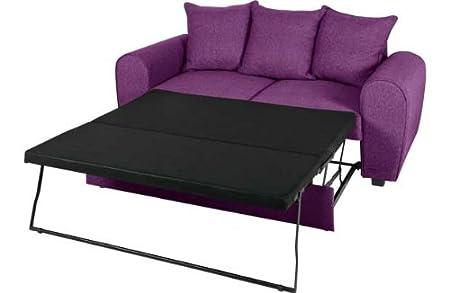 Anne Fabric Sofa Bed   Aubergine.