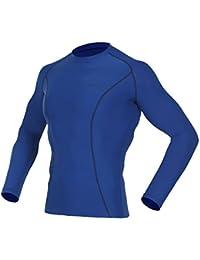 Men's Long Sleeve T-Shirts Baselayer Cool Dry Compression Top Running Yoga Rashguard MTL7117