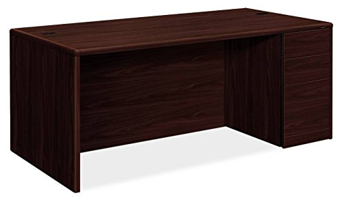 Hon 10787Rnn 10700 Series 72 By 36 By 29 1 2 Inch Desk With Full Height Right Pedestal  Mahogany