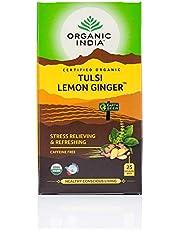 Organic India Lemon Ginger Tulsi Green Tea 25 Teabags