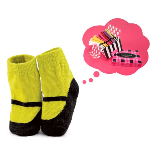 Trumpette Infant's (0-12mo) Mary Jane Six-Piece Sock Set/Brights - Assorted (Trumpette Baby Girl)