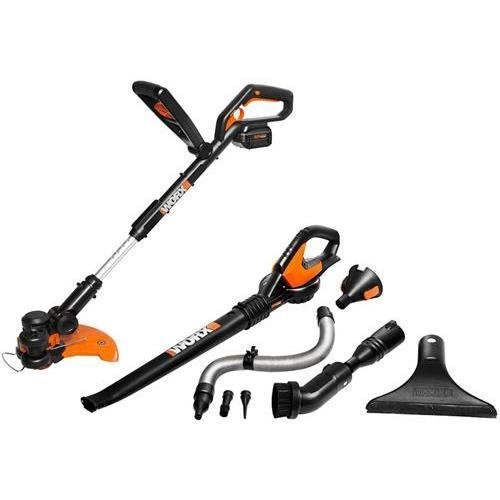 Positec WG924.1 WORX AIR Cordless 2-piece Combo Kit, 32V Li-ion with WORX AIR Accessories by Positec