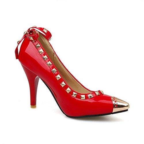 Balamasa Kvinna Winkle Pinker Höga Klackar Lack Pumpar-shoes Röda