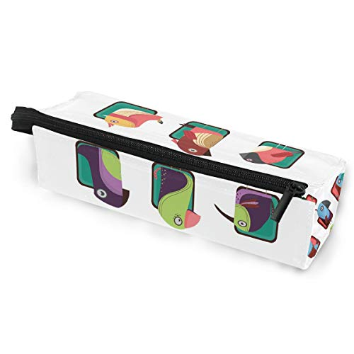 Glasses Case A Collection Of Birds Travel Soft Sunglasses Pen Bag Protective Box