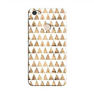 Cover It Up - Brown White Triangle Tile Redmi Y1 Hard Case