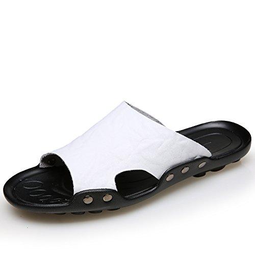 Xing Lin Sandalias De Hombre Zapatillas De Gran Tamaño 50 Hombres Verano Indoor Plus 47 Fertilizante Engrosada Cruz 48 Cool Zapatillas 45 Home 49 Extra Blanco 46,39,331