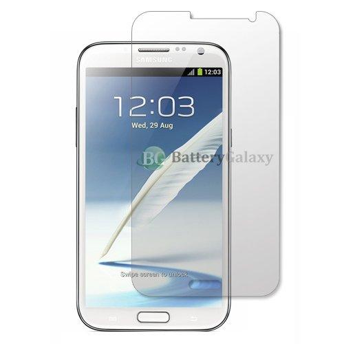 6 xロットBGクリアLCDスクリーンプロテクターfor Samsung Galaxy Note 2 5.5