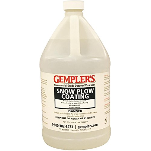 Silicone Snow Plow Coating - Ideal for Snow Plow Blades, Truck Beds, Snow Throwers, Shovels for Easier Snow Removal, 1 Gallon by Gempler's