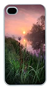 Dandelion Sunrise Custom iPhone 4s/4 Case Cover Polycarbonate White Halloween gift by runtopwell
