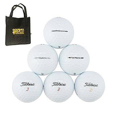 Links Choice LLC 50 Titleist AAAA Near Mint Used Golf Balls with Tote Bag