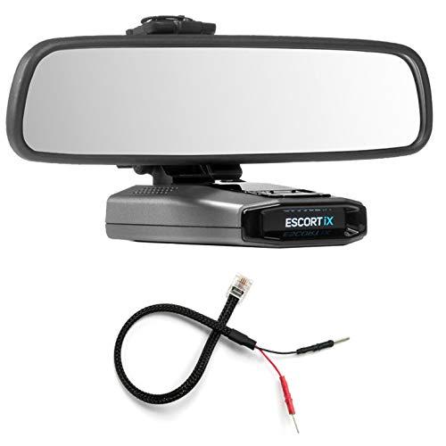 Radar Mount Mirror Mount Bracket + Mirror Wire Power Cord for Escort IX EX Max360C ()