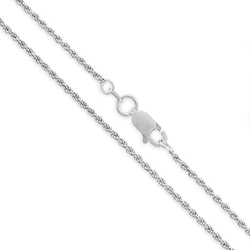 - Sterling Silver Italian 1.5mm Rope Diamond-Cut Link ITProLux Solid 925 Twisted Chain Necklace 16