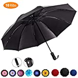 Viefin Reverse Folding Compact Travel Umbrellas for Women, Inverted Inside Out Sun Rain Woman Umbrella, Automatic Open Close, 10 Ribs