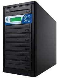 EZ Dupe 5-Target DISK-LOK DVD/CD Duplicator with Target Disk Copy Protection EDL5 Black
