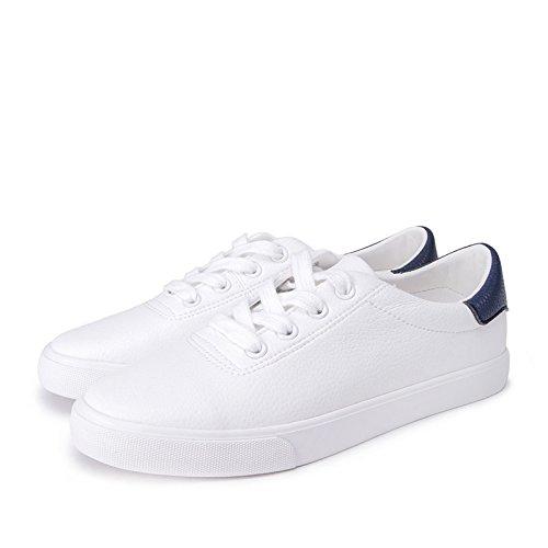 35 signora bianche bellezza rotonda punta primavera profonde scarpe piatte blu navy nastro a DHG dolce carina Scarpe scarpe scarpe qRX0U