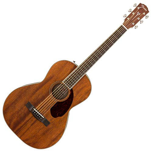 Fender Paramount Series PM-2 Standard All-Mahogany Parlor Acoustic Guitar Natural ()