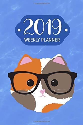 2019 Weekly Planner: Hipster Cat: 52 Weeks of Organization