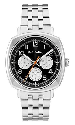 Paul Smith P10043 - Reloj analógico de Cuarzo para Hombre con Esfera Negra y Pulsera de Acero Inoxidable Plateada: Amazon.es: Relojes