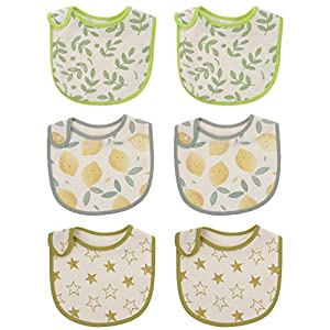 Toddmomy 6pcs Baby Bibs Cotton Saliva Towels Washable Drool Bibs Waterproof Soft Burp Cloths for Boys Girls Baby Shower…