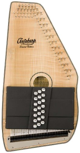 Oscar Schmidt OS110-21FNE 21 Chord Flame Maple Autoharp with Fine Tuning System and Pickup - Natural by Oscar Schmidt