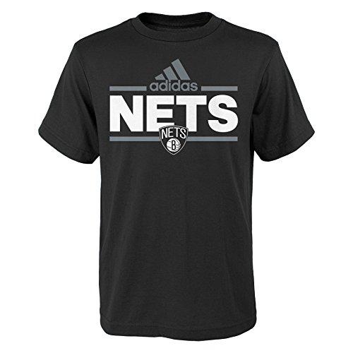 fan products of NBA Youth 8-20 Brooklyn Nets Replen Mini Dassler Short Sleeve Tee-Black-M(10-12)