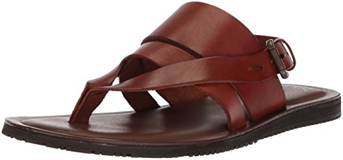 Italy Mens Sandals - Kenneth Cole New York Men's Reel-ist Flat Sandal, Cognac, 9 M US