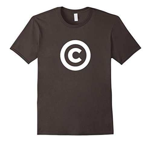 Mens Copyright Symbol T-shirt 2XL Asphalt