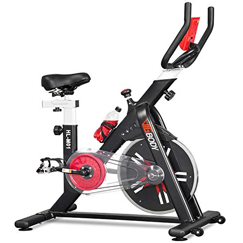VIGBODY Indoor Cycling Bike Stationary, Exercise Bike 400 Lbs Weight Capacity for Home Gym Cardio with Comfortable Seat…