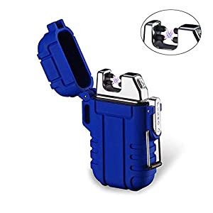 Mechero de Plasma, Teepao Dual Arc Mechero USB recargable sin llama a prueba de viento encendedor de cigarrillos impermeable eléctrico bolsillo encendedor 3